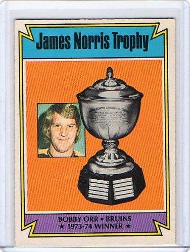 Bobby Orr 1974-75 O-Pee-Chee #248 Norris Trophy Boston Bruins Hockey Card HOF
