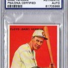 Babe Herman PSA/DNA Signed 1933 Goudey Reprint Authentic Autograph - PSA/DNA Certified Dodgers