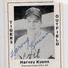 Harvey Kuenn Signed 1979 Wallin Diamond Greats #399 Authentic Autograph Tigers Brewers