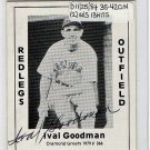 Ival Goodman Signed 1979 Wallin Diamond Greats #266 Authentic Autograph Reds, Cubs