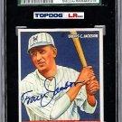 Travis Jackson Signed 1933 Goudey Reprint Card JSA Certified SGA Authentic Autograph HOF, NY Giants