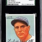 Luke Sewell Signed 1933 Goudey Reprint Card JSA Certified SGA Authentic Autograph, Indians