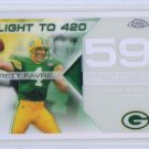 Brett Favre #/100 2007 Topps Chrome White Refractor Brett Favre Flight #BFC-BF59 Packers HOF