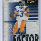 Kurt Warner 2000 Quantum Leaf Star Factor #SF-25 Rams, Cardinals #0948/2500