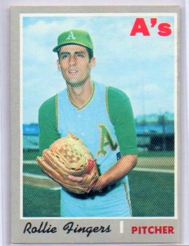 Rollie Fingers 2nd Year 1970 Topps #502 A's, HOF High #