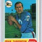 Fran Tarkenton HOF 1968 Topps #161 Vikings