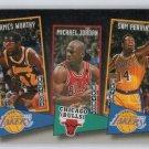 Michael Jordan Insert 1992-93 Skybox School Ties #ST16 Bulls HOF James Worthy Sam Perkins