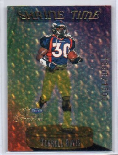 Terrell Davis HOF 1999 Fleer Shrine Time #12 ST Broncos #/1500