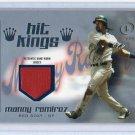 Manny Ramirez #/99 2004 Fleer Legacy Hit Kings Patch Silver #HK-MR Red Sox, Indians, Dodgers