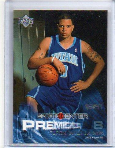 Deron Williams RC  2004-05 UD ESPN Sports center Premieres #104 Cavs, Jazz Rookie