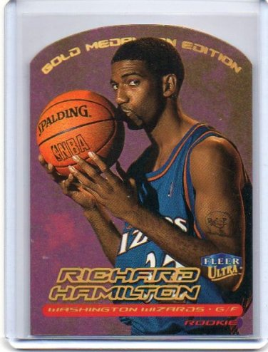 Richard Hamilton RC 1999-00 Fleer Ultra Gold Medallion Edition #129G Wizards, Pistons