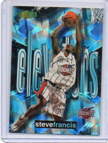 Steve Francis RC 1999-00 Flair Showcase Elevators #9 E Rookie Insert