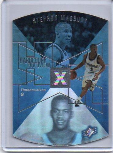 Stephon Marbury 1997-98 SPx Hardcourt Holoview #HH-15 Timberwolves
