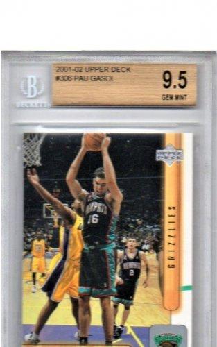Pau Gasol RC 2001-02 Upper Deck #306 Rookie BGS 9.5 Lakers, Spurs, Bulls Gem Mint