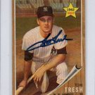Tom Tresh RC Autograph 1962 Topps #31  Tom Tresh Signed Rookie New York Yankees