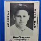 Ben Chapman Signed 1979 Wallin Diamond Greats #2 Authentic Autograph Yankees Phillies