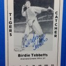 Birdie Tebbetts Signed 1979 Wallin Diamond Greats #377 Authentic Autograph Tigers Indians