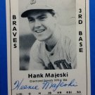 Hank Majeski  Signed 1979 Wallin Diamond Greats #206 Authentic Autograph Boston Bees, Braves, A's