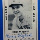 Hank Majeski  Signed 1979 Wallin Diamond Greats #206 Authentic Autograph Boston Bees, Braves, A's