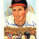 Brooks Robinson Signed Autographed 1989 Perez-Steele Celebration Postcard #35 Orioles HOF
