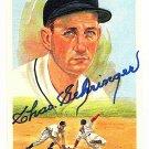 Charlie Gehringer Signed Autographed 1989 Perez-Steele Celebration Postcard #15 Tigers HOF