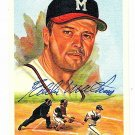 Eddie Mathews Signed Autographed 1989 Perez-Steele Celebration Postcard #30 Braves HOF