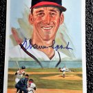 Warren Spahn Signed Autographed 1989 Perez-Steele Celebration Postcard #39 Milwaukee Braves HOF
