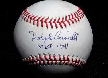 "Brooklyn Dodgers Dolph Camilli Signed Autographed Official NL Baseball (White) Inscribed ""1941 MVP"""