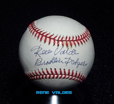 "Brooklyn Dodgers Rene Valdes Signed Autographed Official NL Baseball (Coleman) ""Brooklin Dodgers"""