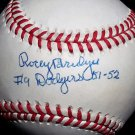 "Brooklyn Dodgers Rocky Bridges Signed Autographed Official NL Baseball (Coleman) ""19 Dodgers 51-52"""""