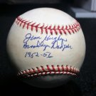 Brooklyn Dodgers Jim Hughes Signed Autographed Official NL Baseball (Coleman) w/ Inscriptions