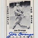Joe Orengo Signed 1979 Wallin Diamond Greats #164 Authentic Autograph NY Giants, Brooklyn
