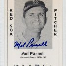 Mel Parnell Signed 1979 Wallin Diamond Greats #242 Authentic Autograph Boston Red Sox, Senators