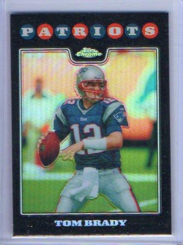 Tom Brady Refractor 2008 Topps Chrome Refractor #TC3 Patriots