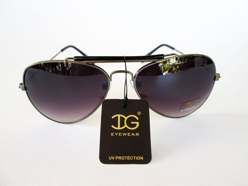 Unisex New Arrival Black Sunglasses with Black Lens & Metal Frame For Men Women