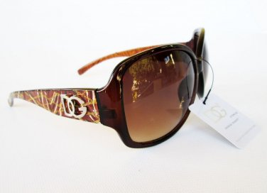 Good Style High Fashion Women's Sunglasses With Brown Lens and Dark Brown Frames