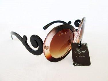 Brand New Popular High Fashion Big Lens Sunglasses With Swirl Frames For Women