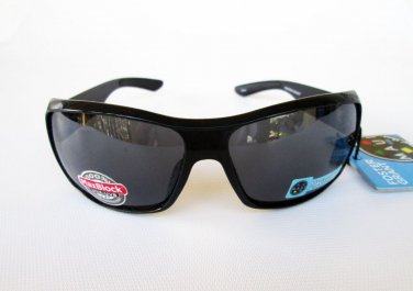 Unisex Foster Grant Black Sporty Sunglasses and Shield For Men and Women