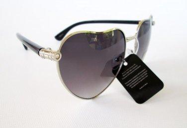 Brand New Heart Shaped Designer Style Sunglasses With Rhinestones For Women