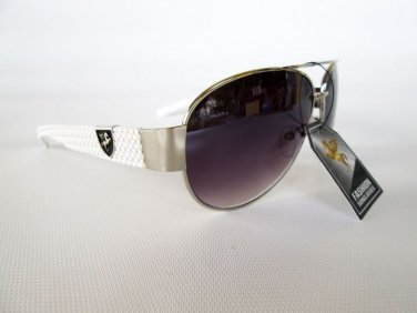 Brand New Style Lady Round Sunglasses With Black and White Frames For Women