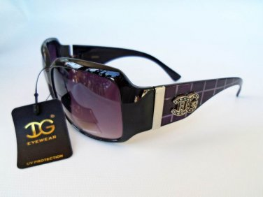 Brand New Women's Oval Sunglasses With Blue, Brown, Purple, and Stripes Frames