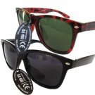 Two Pair of Warefarer Tortoise and Black Unisex Sunglasses For Men and Women