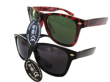 Two Pair of Warefarer Tortoise and Black Unisex Sunglasses For Men and Women