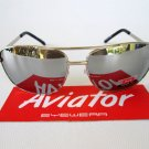 Brand New Aviator Style Men's Sunglasses With Mirror Lens and Metal Frames
