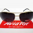 Men's Aviator Black Sunglasses With Silver Metal Frame For Everyday Use