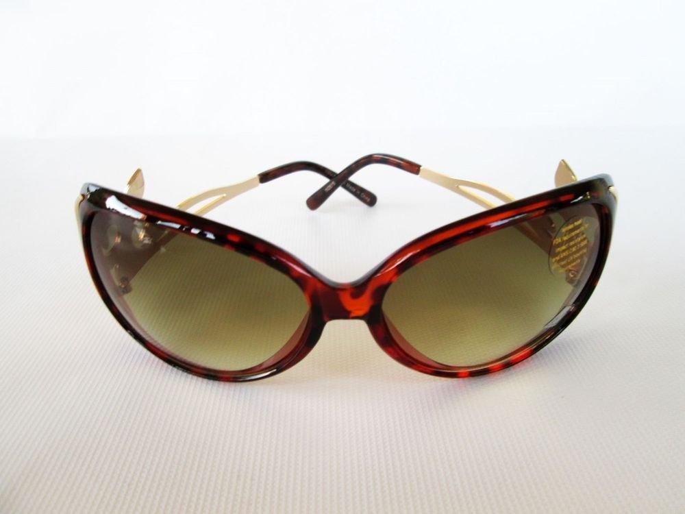 Good Design Metal Frames Tortoise Sunglasses With Rhinestones For Stylish Women