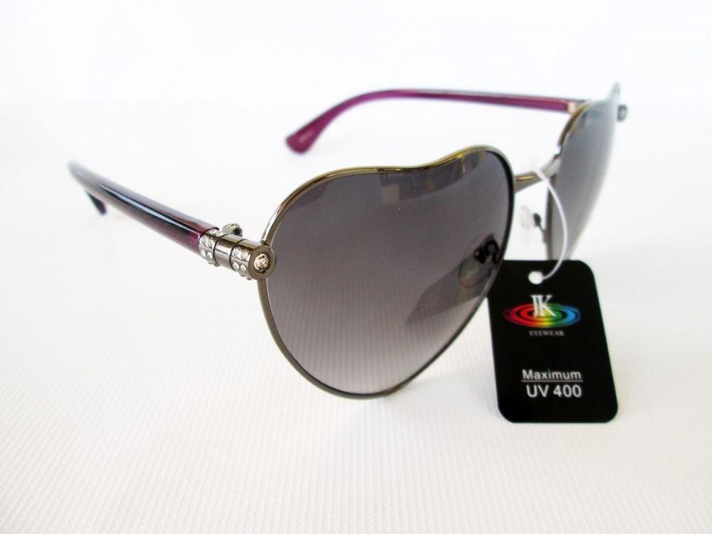 Top Seller Designer Style Heart Shaped Women Sunglasses With Rhinestones