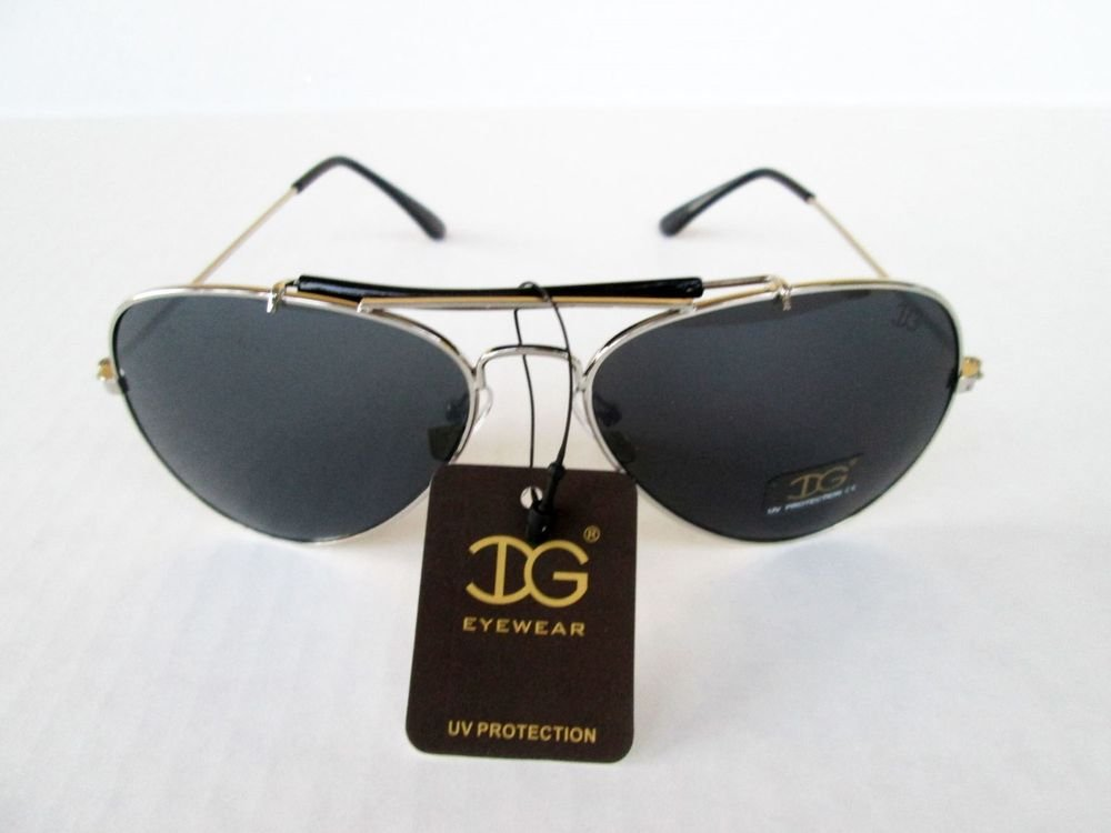 Good and Cheap Men's Aviator or Unisex Sunglasses with Black Lens & Metal Frame