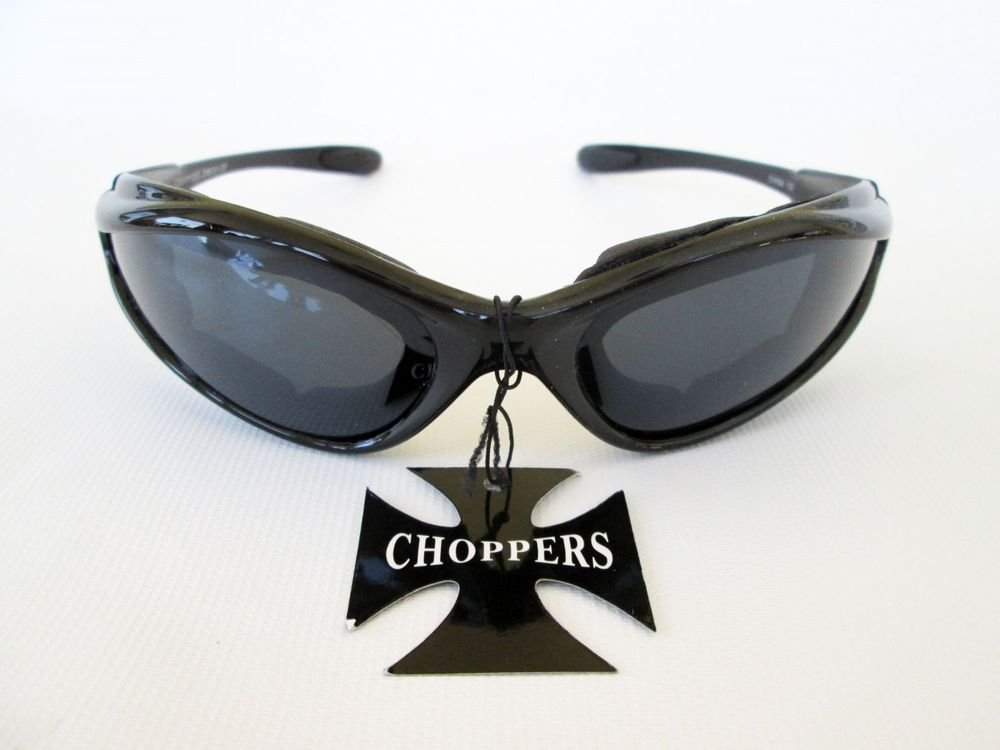 Good Men's Black Sporty Sunglasses With Black Lens & Black Foam Padded Frames