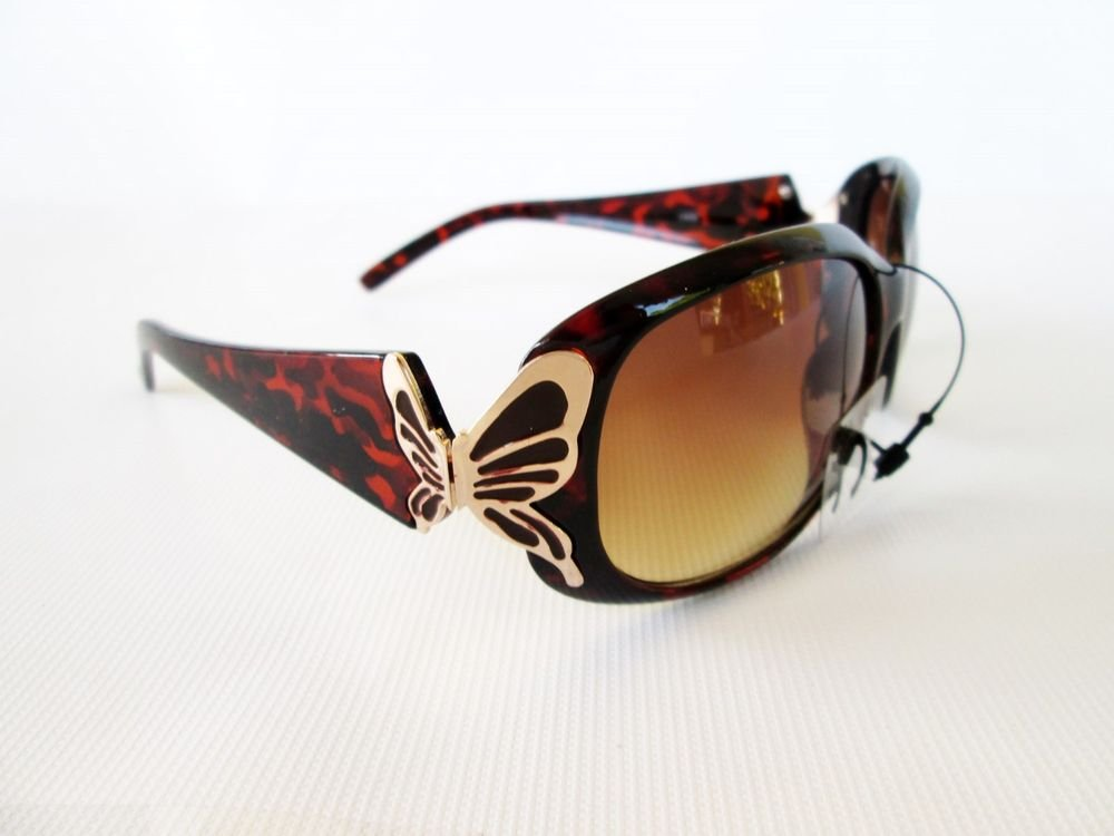 High Fashion Women's Brown Sunglasses With Buttefly Style & Tortoise Frames
